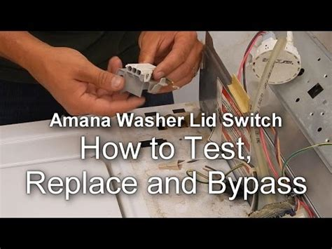 appliance talk   test  bypass  lid switch   amana washer