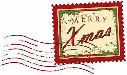 Stamp Christmas Clip Clipart Stamps Postage Frame