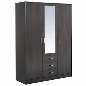 Armoire A Etagere : suny armoire caf 3 portes 4 tag res achat vente armoire de chambre suny armoire caf ~ Teatrodelosmanantiales.com Idées de Décoration