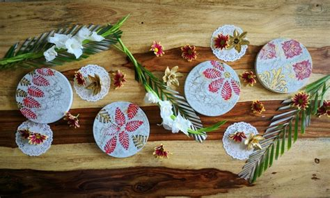 diy decoupage table coasters  brick   time