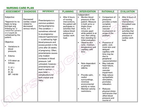 Nursing Diagnosis Examples  World Of Examples