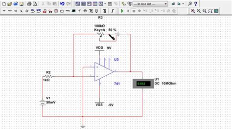 Opamp Circuit Design Multisim Simulation