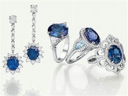 Jewelry Engagement Gem Ring Sapphire Diamonds Gemstone