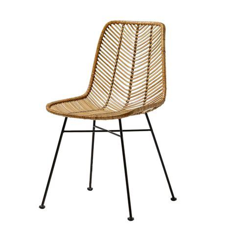 coussins de chaises de jardin bloomingville chaise lena rotin naturel bloomingville