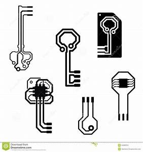 vector electronic circuit keys stock vector image 34280312 With electronic circuit board 4