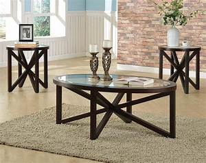 photo of 3 piece glass coffee table sets With three piece glass coffee table