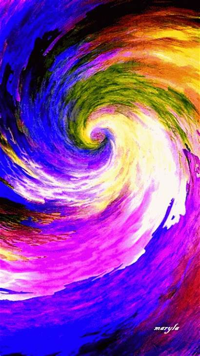Rainbow Animation Gifs Colors Animated Moving Spiral