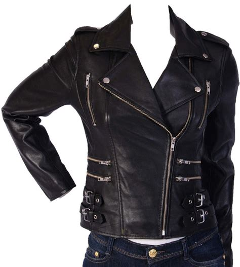 ladies motorcycle clothing women genuine lambskin leather motorcycle jacket slim