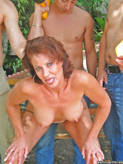 Mature Mom With Big Tits Jillian Foxxx Enjoys Great Groupsex