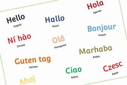 Hello Poster Languages Printable Eyfs Early Years