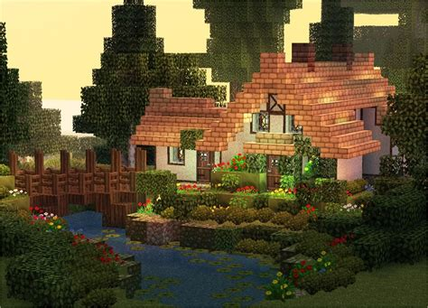 stream cottage minecraft project minecraft projects