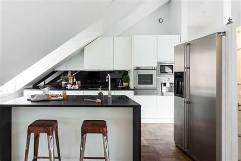 attic kitchen designs exclusive attic apartment design in stockholm home design and interior