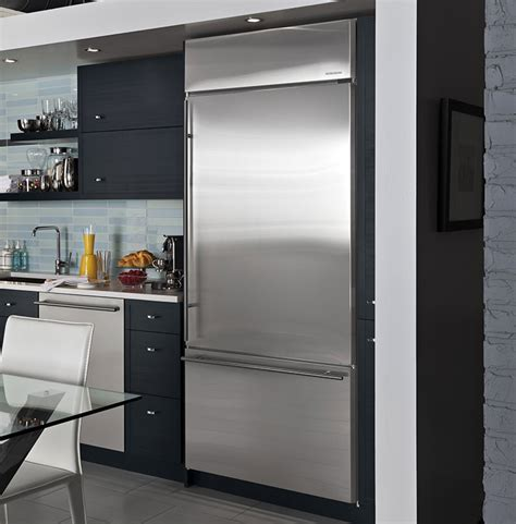 built    standing refrigerators monogram kitchens