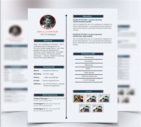 resume and cover letter psd template at downloadfreepsd