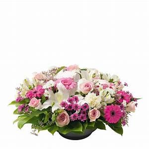Fleur Rose Et Blanche : coupe de fleurs rose et blanche interflora ~ Dallasstarsshop.com Idées de Décoration