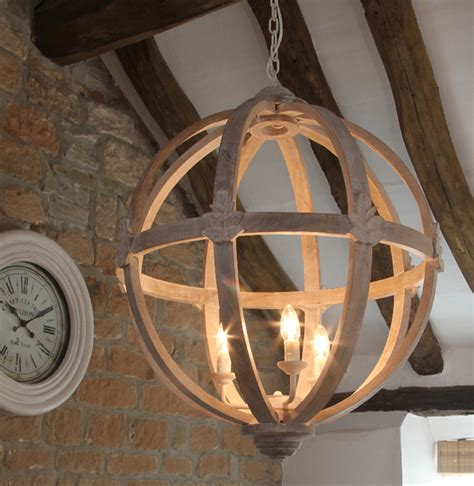 wood chandelier large wooden orb chandelier farmhouse Farmhouse