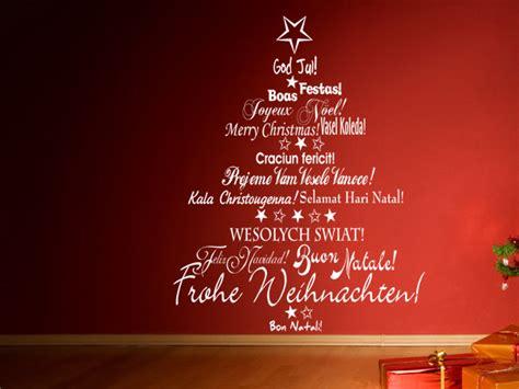schoene wandtattoo weihnachtsmotive und geschenke auf