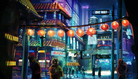 night city paintings
