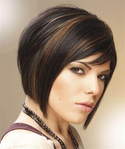 medium straight formal bob hairstyle  side swept bangs