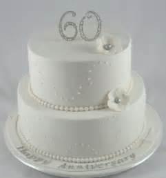 diamond wedding anniversary cake decoration idea