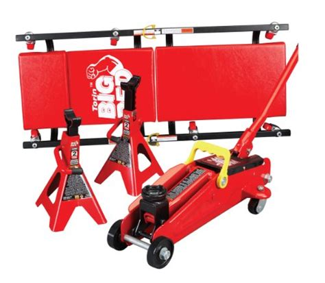 torin big red hydraulic trolley floor jack combo with 2