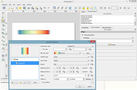 maps color legend continuous color band for a raster legend in qgis composer