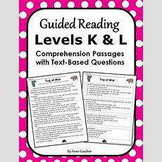 Second Grade Close Reading Passages And Questions Guided Reading Levels K And L