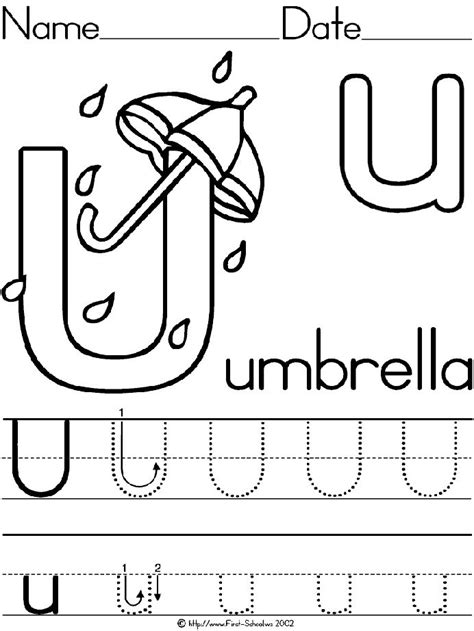 Letter U Activities And Printables At Httpwwwfirstschoolwsactivitiesalphauumbrella