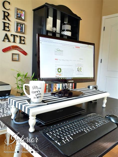 diy desk cpu holder best 20 monitor ideas on monitor stand