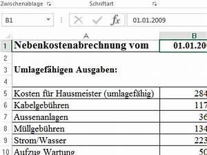 Strom In Nebenkosten Enthalten : nebenkostenabrechnung muster vorlage f r excel download chip ~ Frokenaadalensverden.com Haus und Dekorationen