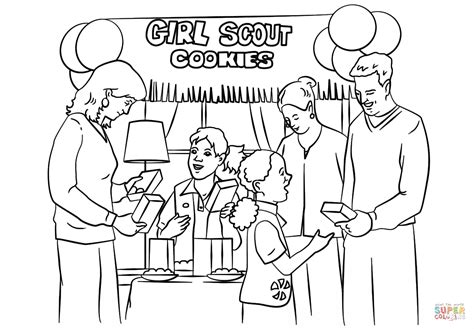 Girl Scout Cookie Coloring Activities Coloring Pages