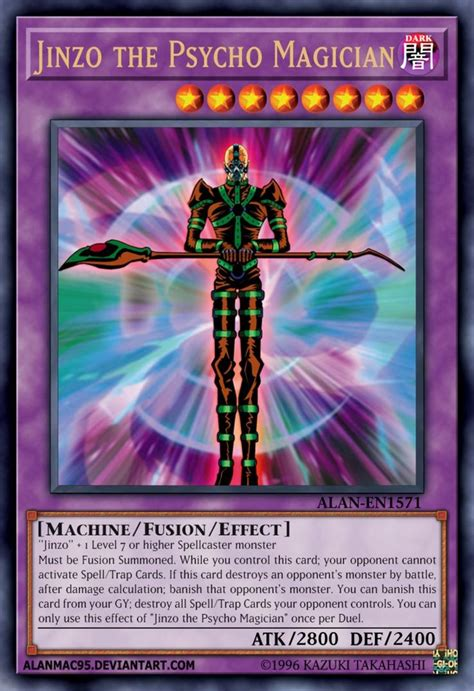jinzo  psycho magician  alanmac custom yugioh