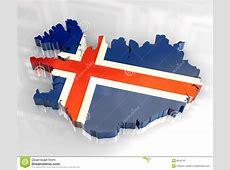 3d flag map of Iceland stock illustration Image of blue