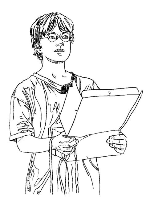 harry potter receipt package  hedwig coloring page
