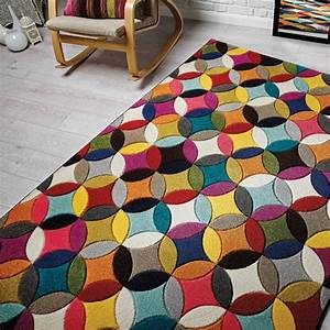 tapis flair rugs rectangulaire multicolore couleurs vives With tapis multi couleur