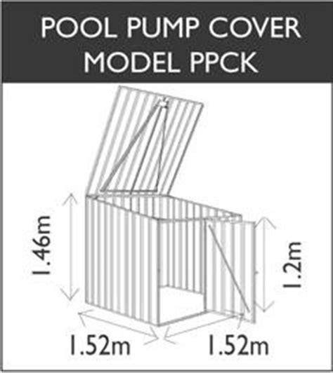 absco pool pump cover 1 5m x 1 5m garden shed zincalume ebay