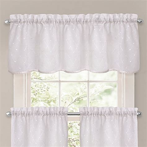 bed bath and beyond kitchen curtains pict brook window curtain tier pair and valance in