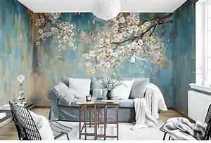 Oil, Painting, Wallpaper, Murals, Flower, Pattern, Wall