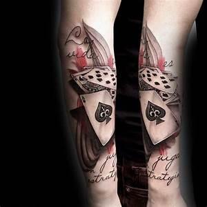 Tattoos Männer Unterarm : tattos ideen 90 spielkarte tattoos f r m nner lucky design ideen tattoos ideen ~ Frokenaadalensverden.com Haus und Dekorationen