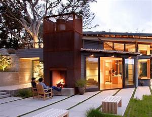 outside fireplace design ideas outdoor fireplace attached With outdoor lighting attached to house