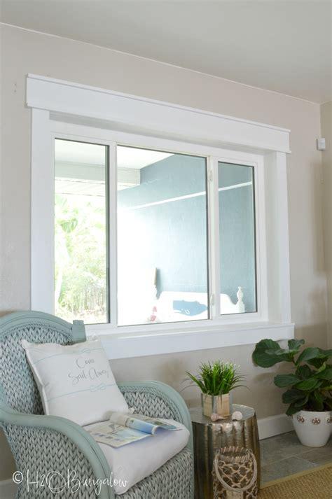 Living Room Window Trim Ideas by Simple Diy Craftsman Style Window Trim Tutorial H2obungalow