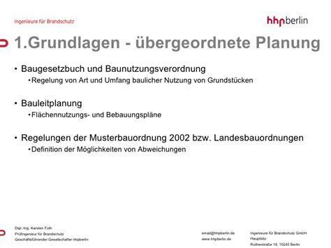 Landesbauordnung Und Baunutzungsverordnung by Brandschutz Bauen Im Bestand