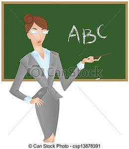 Blackboard clipart female english teacher - Pencil and in ...
