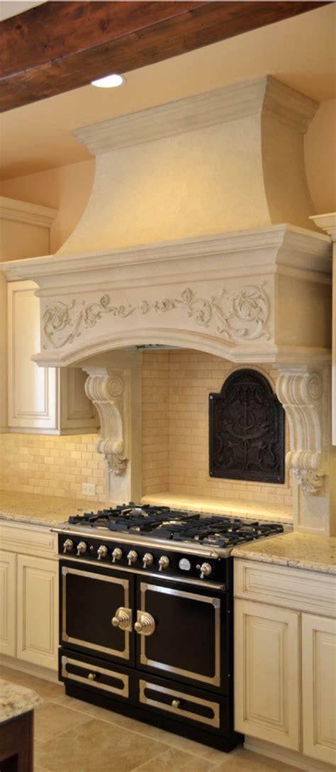 black oven  gorgeous white range hood