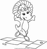 Hopscotch Coloring Bop Pages Barney Jawar Playing Watson Uploaded Getcoloringpages Below sketch template