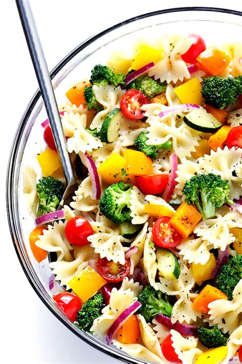 pasta salad easy recipes veggie lovers pasta salad gimme some oven