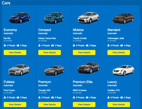 Hertz Full Size Car List