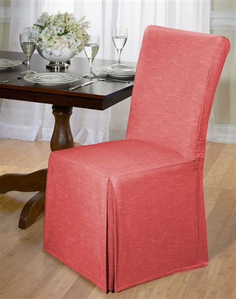 luxurious cotton dining chair cover chambray  tie
