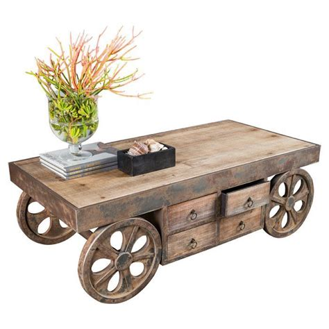 wooden table with wheels wood table legno design pinterest