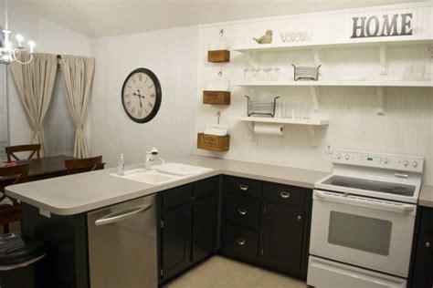 remodelaholic kitchen remodel removing upper cabinets  shelving